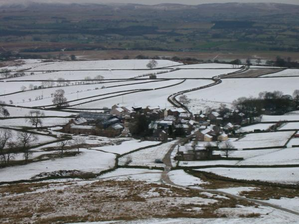 Looking down on Murton