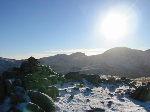 Esk Pike and Great End from Base Brown's summit