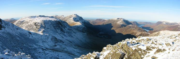 Northwesterly panorama from Green Gable summit