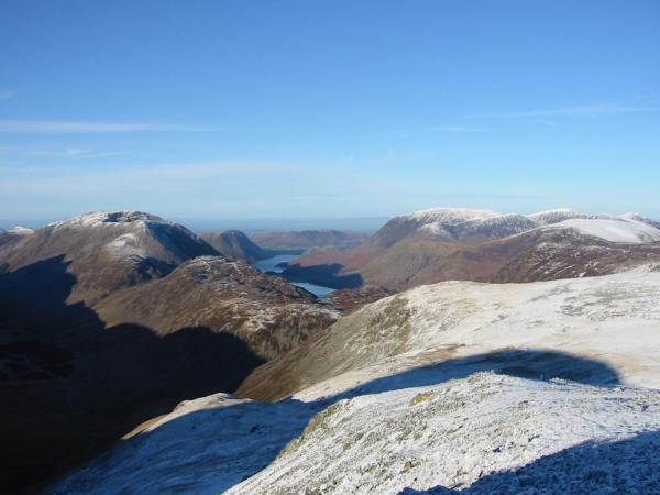 High Crag, Haystacks, Buttermere, Crummock Water and Grasmoor from Green Gable