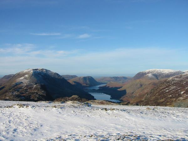 Buttermere and Crummock Water from Brandreth