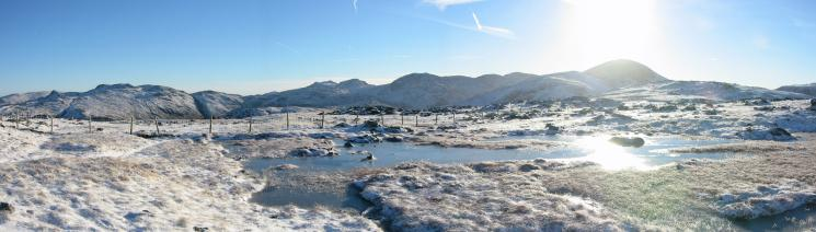Glaramara, the Scafells and Great Gable from Grey Knotts