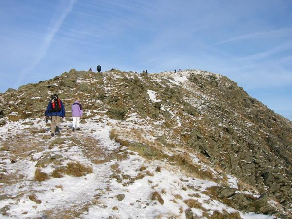 The final section of the ascent to Great Rigg's summit