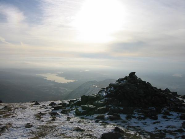 Windermere from Great Rigg's summit cairn