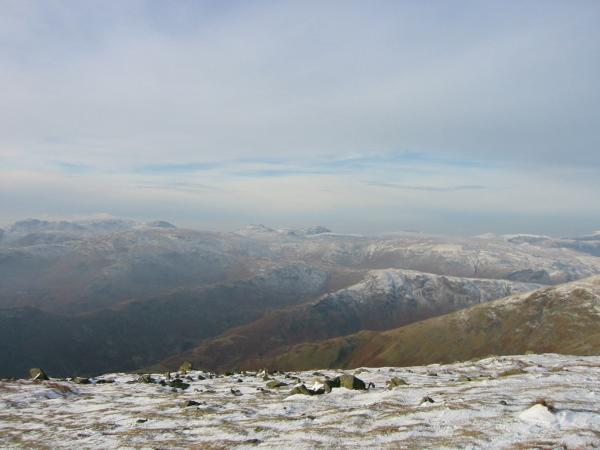 The view west from Great Rigg's summit