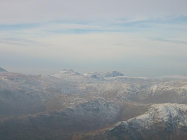 Zooming in on Great Gable, Scoat Fell and Pillar
