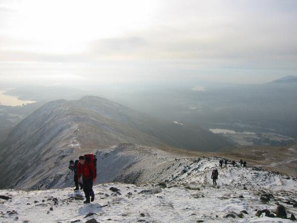The ridge to Heron Pike. Lots of people walking the Fairfield horseshoe today