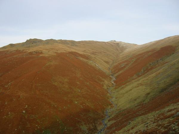 Greenhead Gill leading to Great Rigg