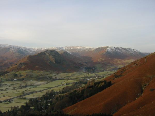 Helm Crag and Steel Fell from the descent back to Grasmere