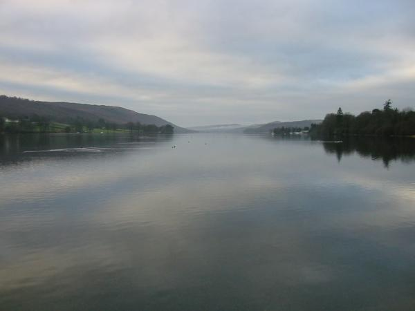 Looking down Coniston water