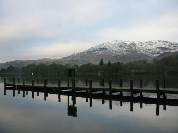 Coniston Old Man from Monk Coniston jetty