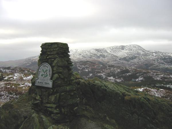 Wetherlam from Black Crag's summit