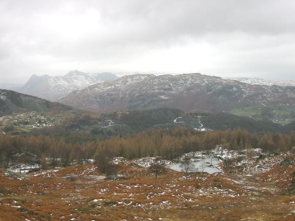 The Langdale Pikes and Lingmoor Fell