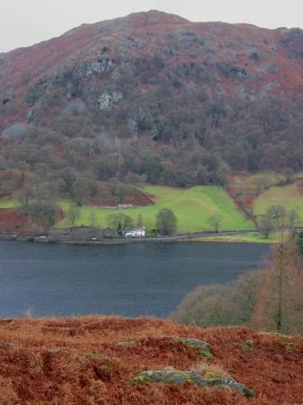 Looking across Rydal Water to Nab Scar and Nab Cottage