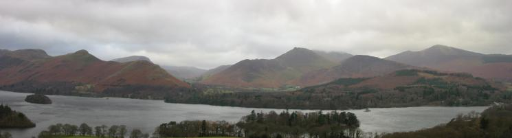 The north western fells from Castle Head: Catbells, Causey Pike, Barrow, Grisedale Pike