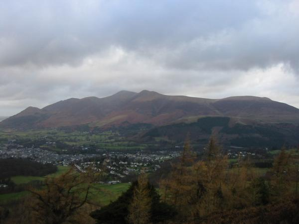 The Skiddaw fells and Keswick from Walla Crag