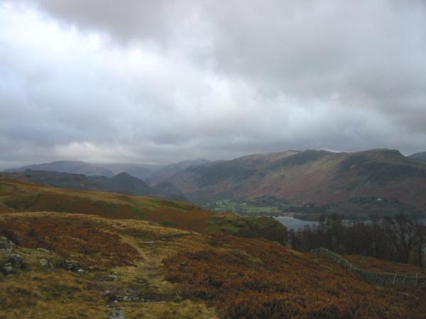 Looking south to the high fells from Walla Crag