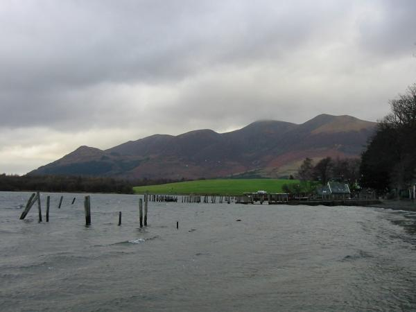 The Skiddaw fells from Keswick landing stages, Derwent Water