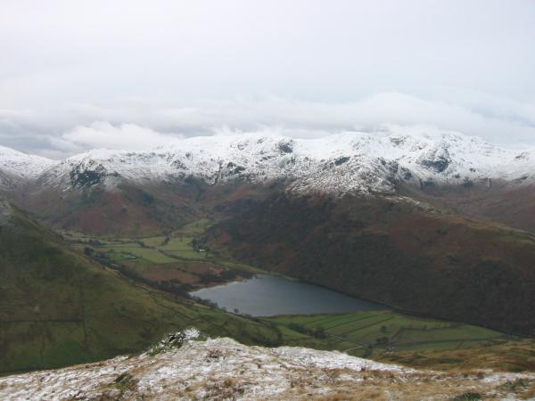 Looking down on Brothers Water from Brock Crags summit