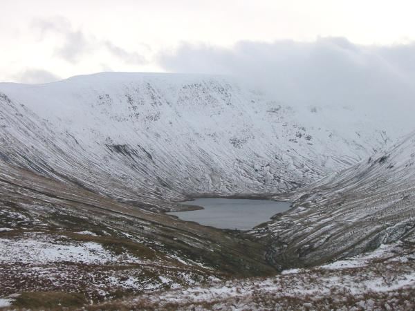 Hayeswater and a snow covered High Street