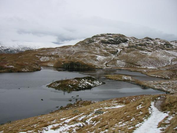 Angle Tarn and the southern top of Angletarn Pikes