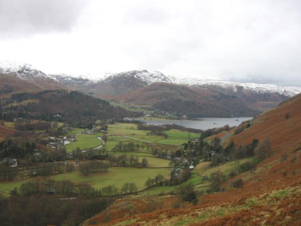 The head of Ullswater from below Boredale Hause