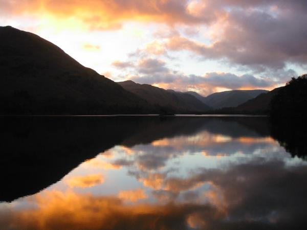 Ullswater sunrise on the way to Glenridding
