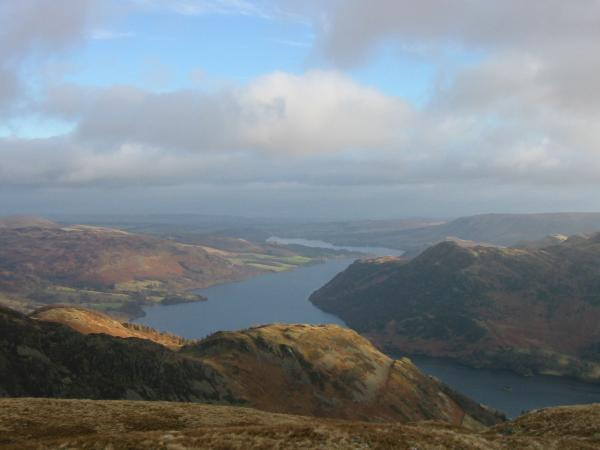 Ullswater from the north east top of Birkhouse Moor