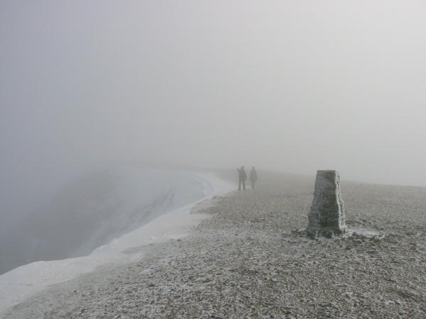 No views from Helvellyn's summit today