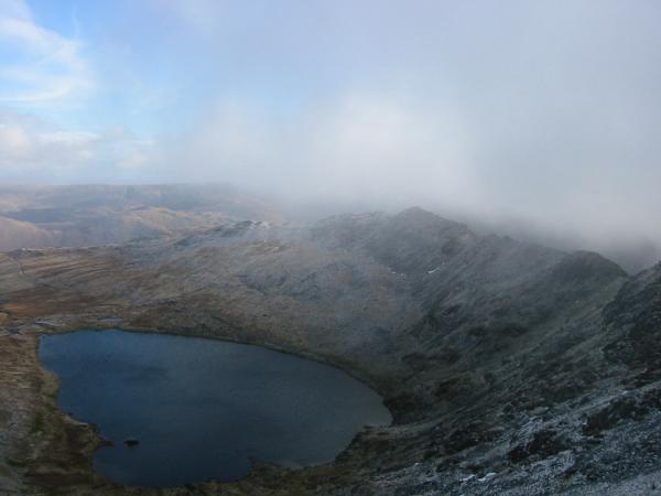 Red Tarn and Striding Edge from Swirral Edge