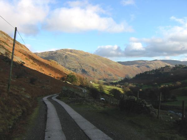 The Greenside mine road back to Glenridding