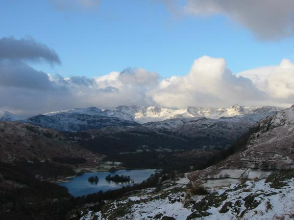 Rydal Water and the Langdales from the ridge