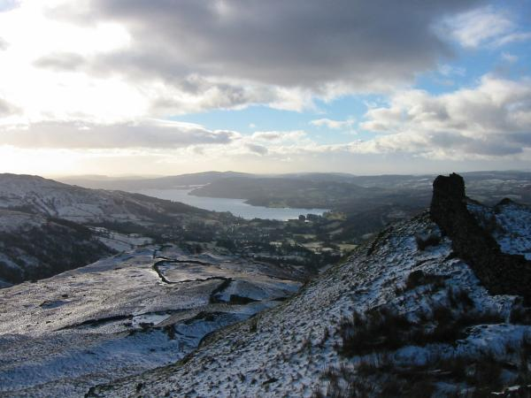 Looking back south to Windermere from near Low Pike's summit