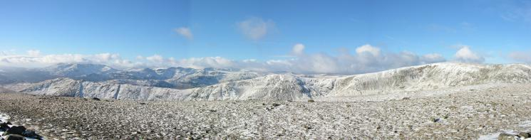 Westerly panorama from Dove Crag's summit