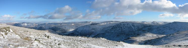 Easterly panorama from Dove Crag
