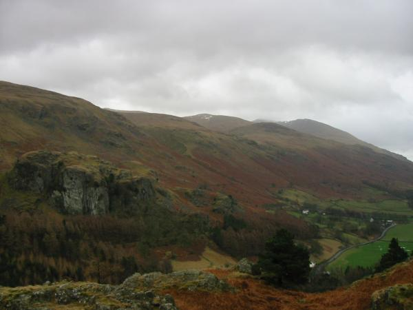 Castle Rock of Triermain and the Helvellyn ridge