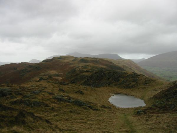 Looking north along the ridge towards High Rigg's summit