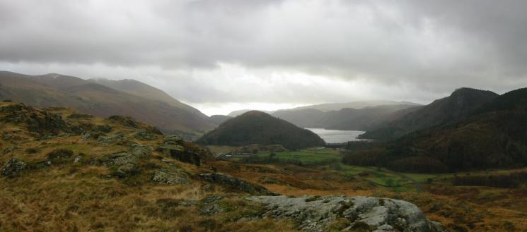 Looking back south to Great How and Thirlmere