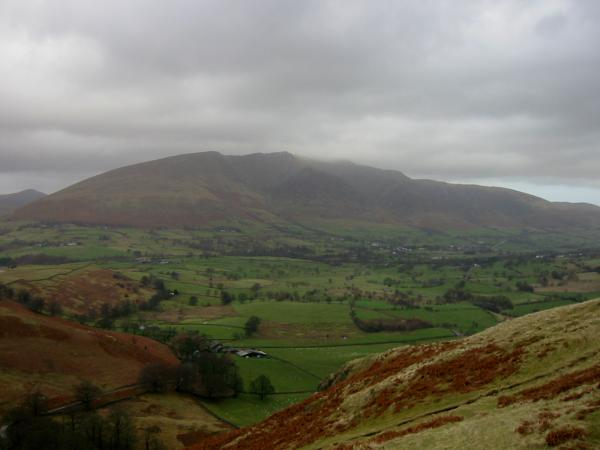 Blencathra from the descent to the church