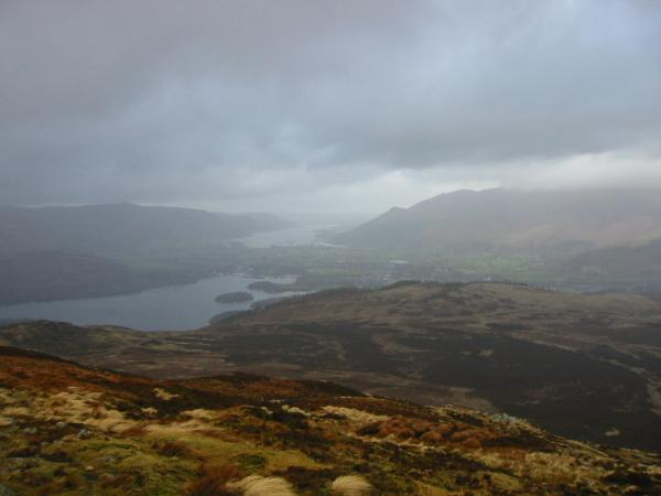 Derwent Water and Bassenthwaite Lake from Bleaberry Fell