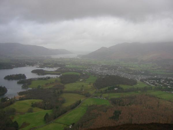 Keswick from Walla Crag summit