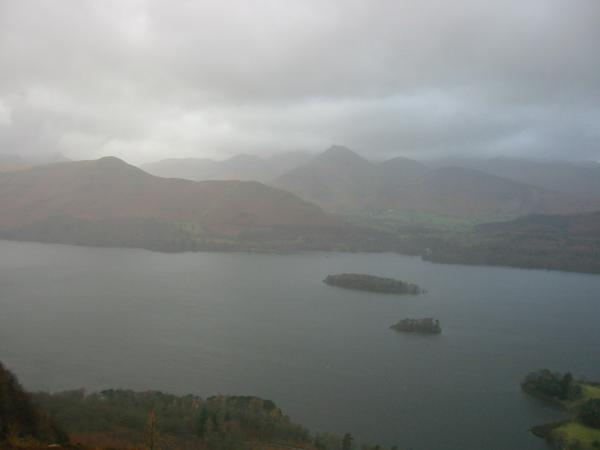 Catbells and Causey Pike seen across Derwent Water from Walla Crag