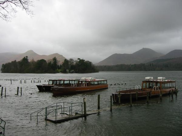 Catbells and Causey Pike from the Keswick Landing stages, Derwent Water