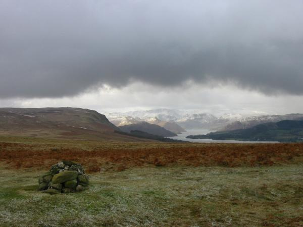 Arthur's Pike and Ullswater from Heughscar Hill's summit