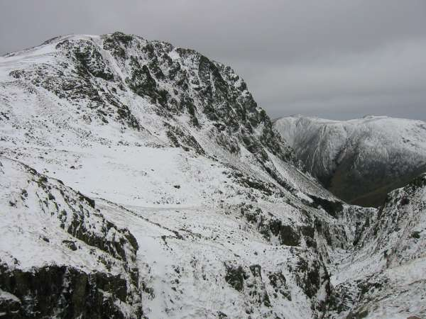 Lingmell from the top of Piers Gill