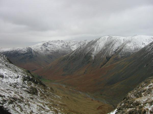 Looking down into Wasdale from the Corridor Route
