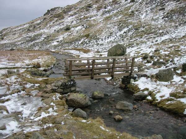 Bridge across Styhead Gill