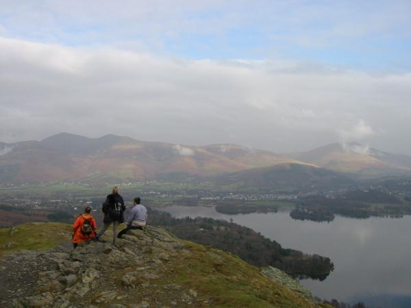 The Skiddaw fells and Blencathra from Catbells north ridge