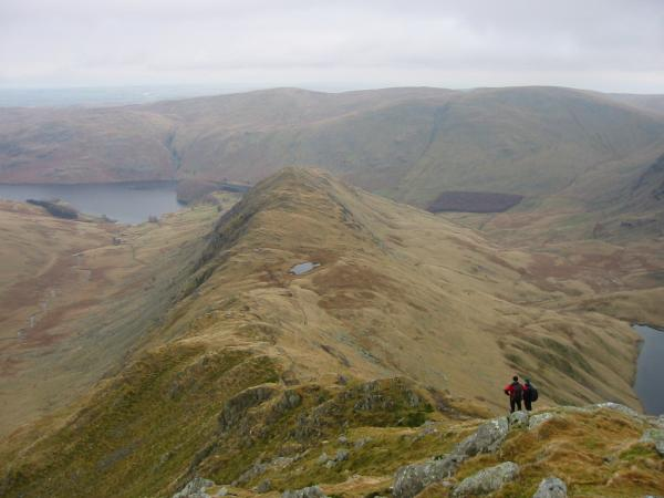 Rough Crag and Caspel Gate Tarn from Long Stile