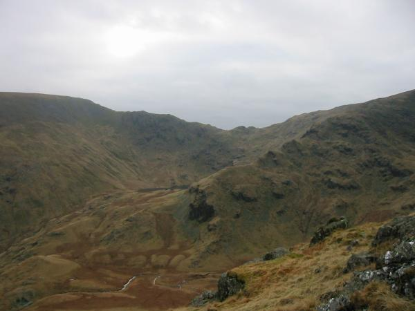 Nan Bield Pass with Small Water just visible, centre left
